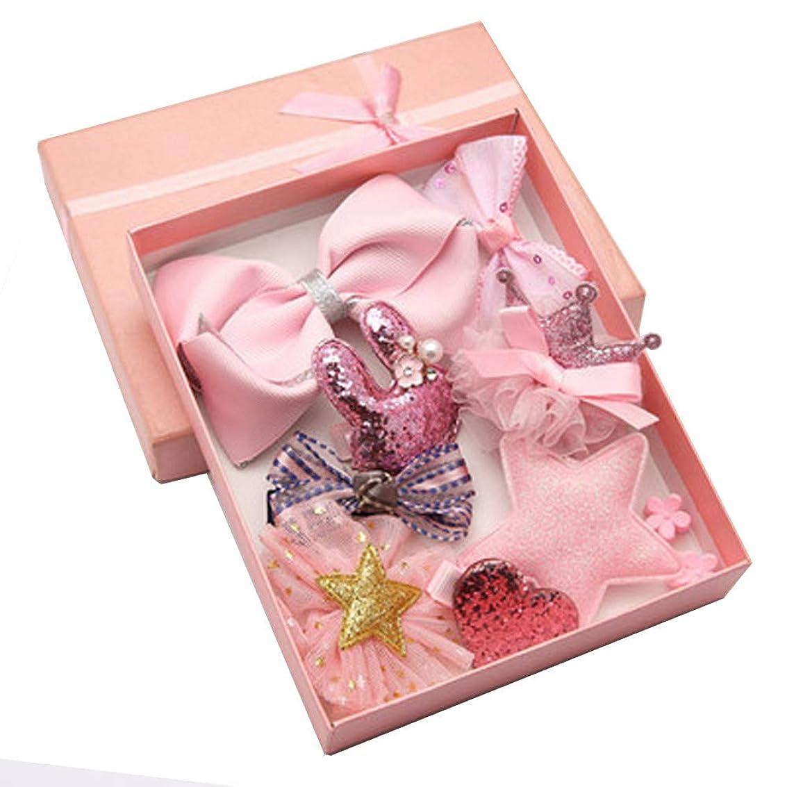 指定時代砂利Lazayyii 子供用ヘアアクセサリー赤ちゃん誕生日ギフト (ピンク)