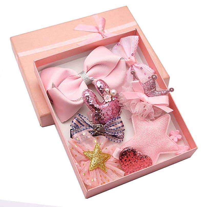 批判するバンカーバイパスLazayyii 子供用ヘアアクセサリー赤ちゃん誕生日ギフト (ピンク)