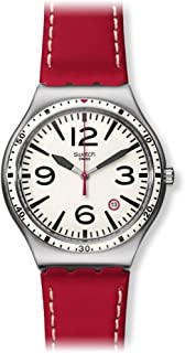Swatch Women's YWS403 Caterhred Year-Round Analog Quartz Red Watch