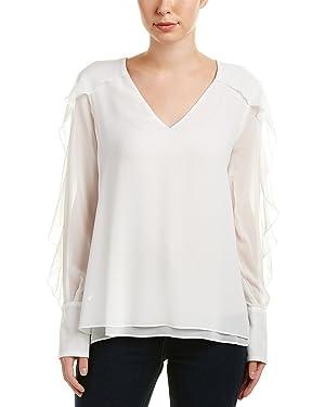 BCBGMAXAZRIA Gael - Camiseta de manga larga para mujer