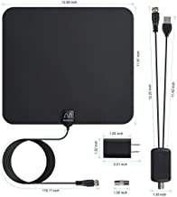 【Updated 2018 Version】 Professional TV Antenna-Indoor Digital HDTV Antennas Amplified 60-100 Mile Range 4K HD VHF UHF Freeview for Life Local Channels and Programming for All Type of Television