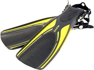 Mares Wave Open Heel Dive Fins (X-Large, Yellow)