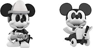 Mini Figura de Vinilo: Disney – Black and White Firefighter y Avión Crazy Mickey Mouse 2 unidades, Convención de caída exclusiva