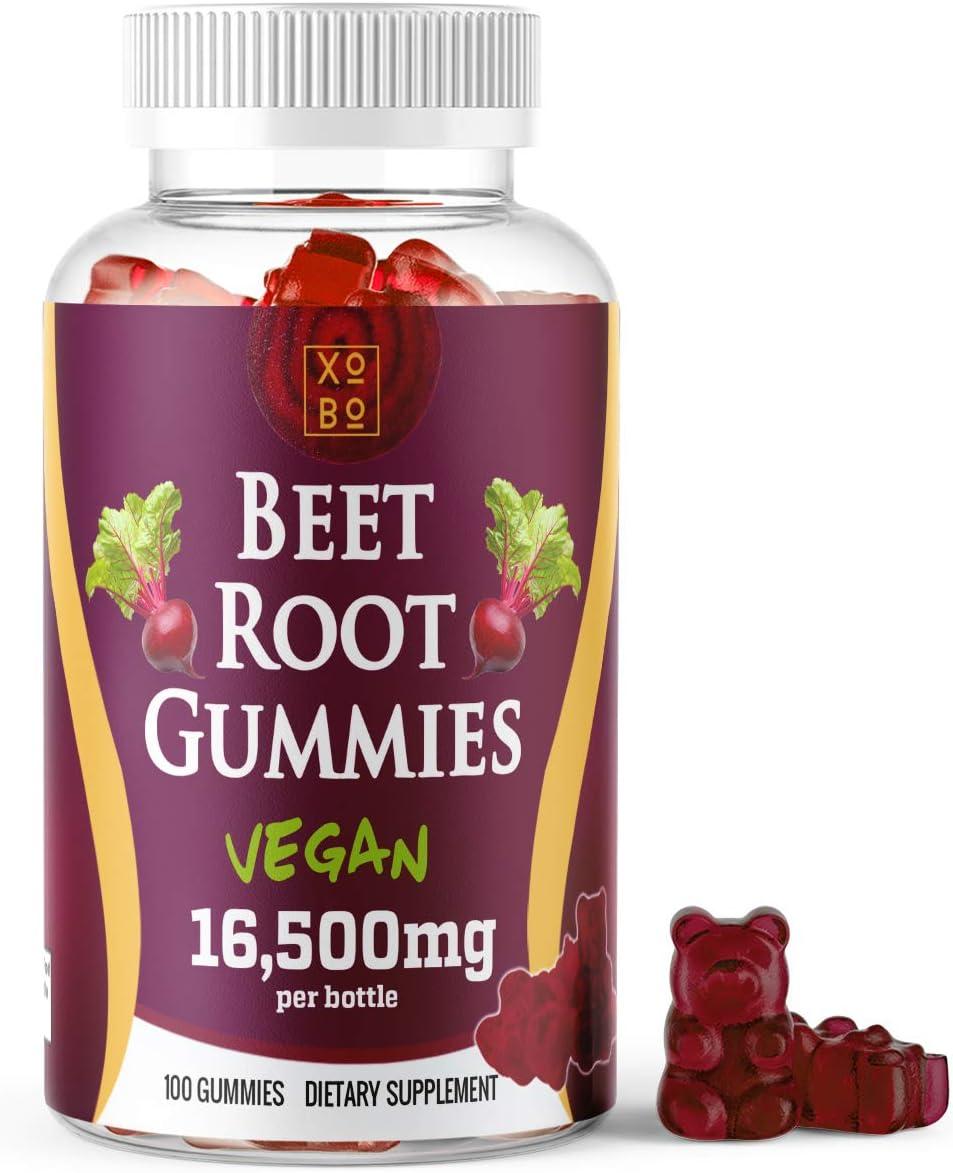 Xobo Beet Root Powder Gummies Choice Supplement w Gummy Chews 100 Soft Kansas City Mall