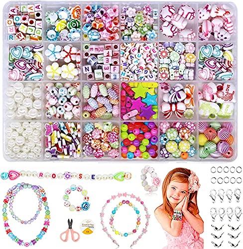 Silingsan Cuentas de Colores, Perlas de Vidrio, Mini Cuentas, Cristal Abalorios Kit para Hacer Pulseras DIY Bisutería Collar Pendientes Cumpleaños Regalo para Niños Adultas