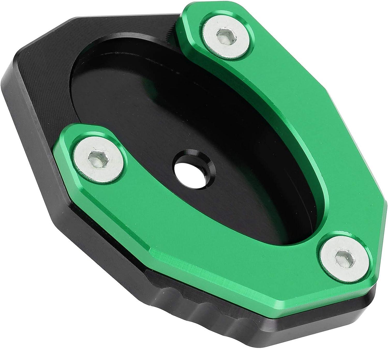 Verde zhuolong Placa de Pata de Cabra de Motocicleta Almohadilla de extensi/ón de Soporte Lateral KSP-106-set Ajuste para Kawasaki Z650//Z900