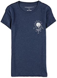 AEROPOSTALE Womens Earth and Sky Graphic T-Shirt