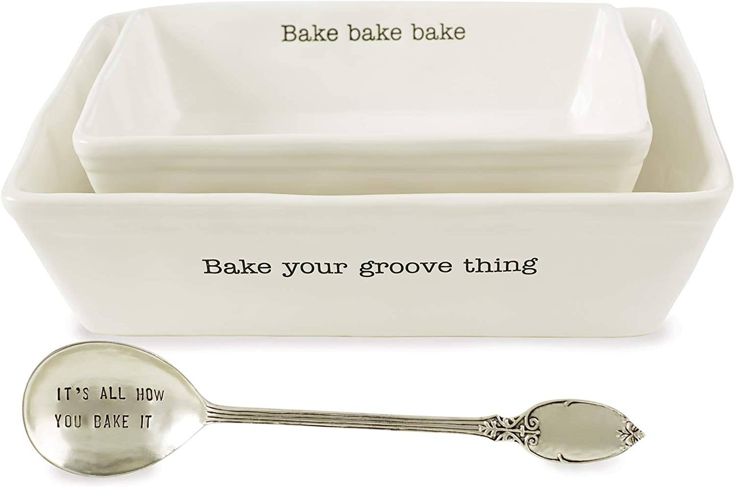 Selling and selling Mud Pie Farmhouse Inspired Set of 2 Spoon Baking Louisville-Jefferson County Mall Dish Se Serving