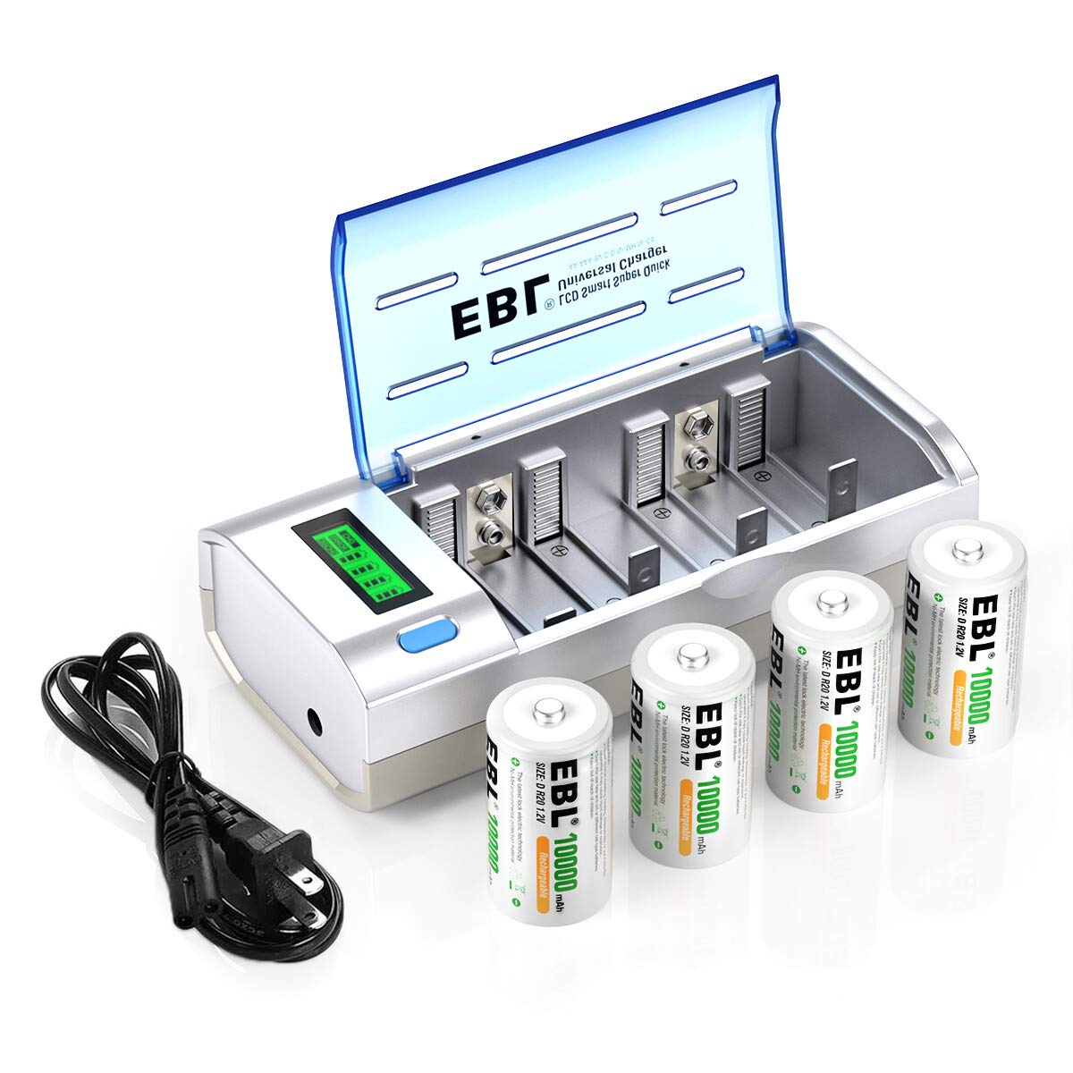 [SCHEMATICS_4PO]  Amazon.com: EBL D Cells 10000mAh Rechargeable Batteries (4 Counts) with C D  9V AA AAA Battery Charger: Electronics | Aaa Battery Box Wiring Diagram 4 |  | Amazon.com