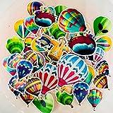 BLOUR 40 Stück Heißluftballon Kids Fun Paper Stickers Selbstgemachte Buchhaltungsabziehbilder auf...