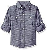 U.S. Polo Assn. Boys' Little Long Sleeve Chambray Sport Shirt, Classic Navy, 5/6