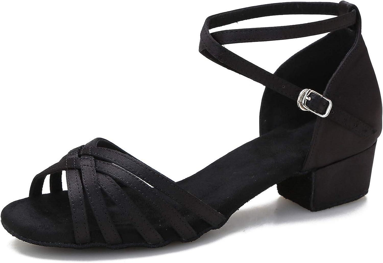 Yokala Womens Latin Salsa Columbus Mall Dance Shoes Low Limited price Social He for Beginner