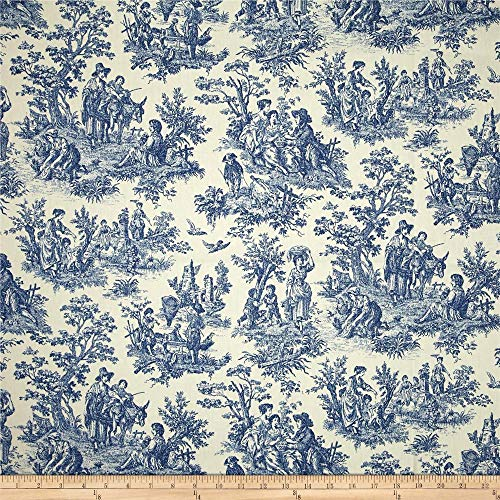 Waverly Charmed Life Toile Cornflower, Fabric by the Yard