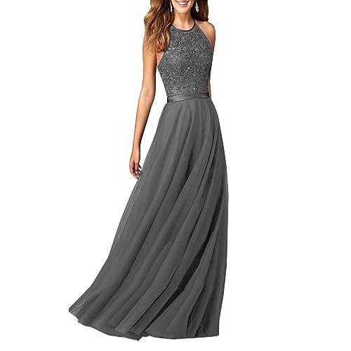 48a9e022e400 JinXuanYa Women's New Lace Bridesmaid Dresses Prom Evening Dress