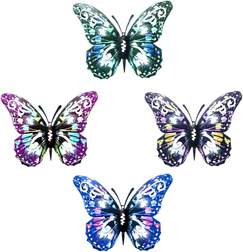 Trust DOITOOL 4pcs Kansas City Mall Metal Butterfly Wall Inspirational Decor Art S