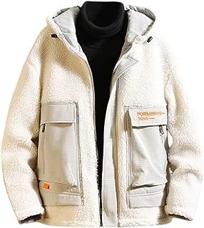 Fashion Fleece Hooded Mens Winter Warm Flannel Jacket Hoodie Coat Outerwear
