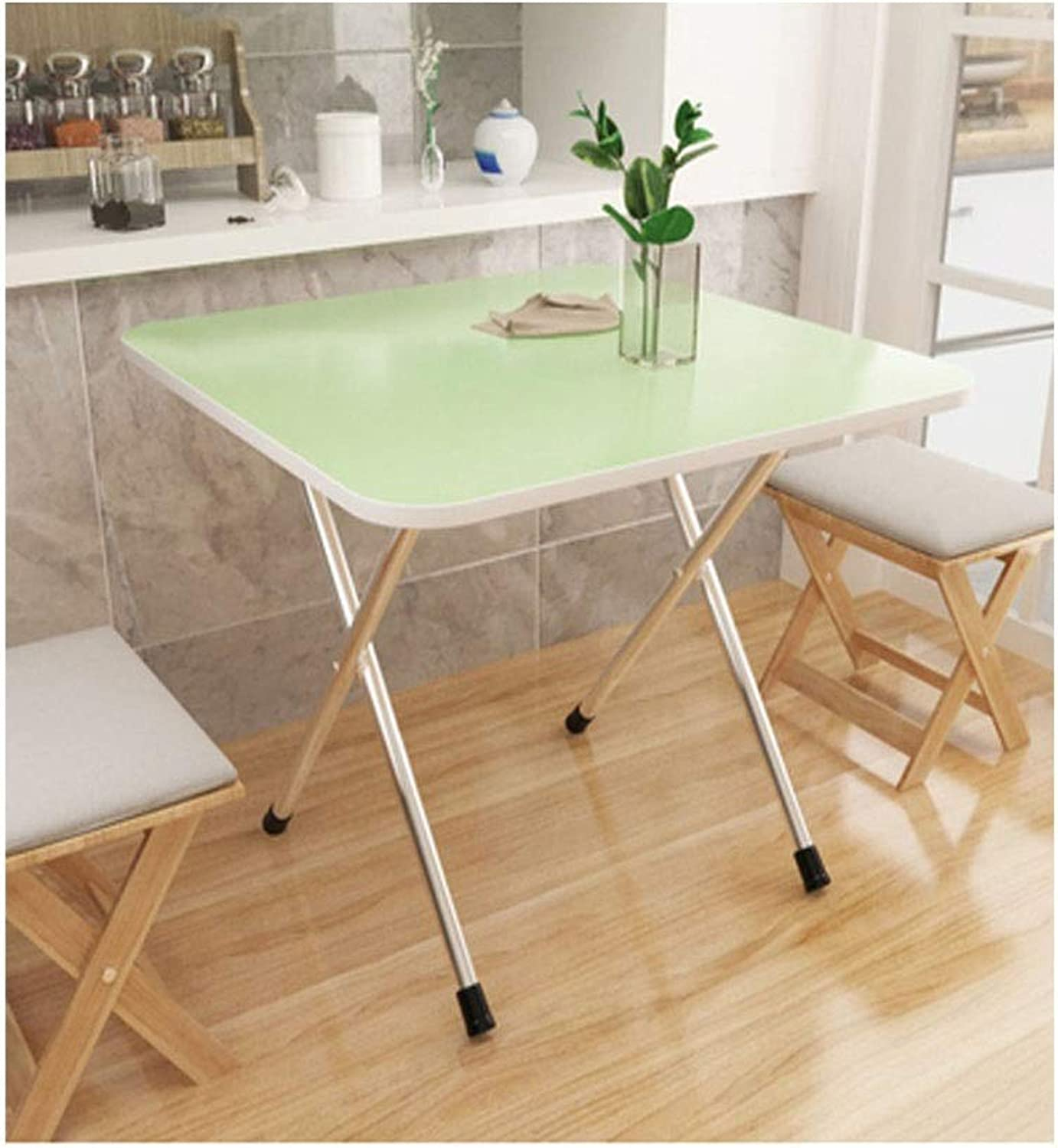 Tables and Chairs, Folding Tables and Chairs, Small Simple, Portable Folding Table, Can Be Used Indoors and Outdoors (color   Pink, Size   60m60cm50cm)