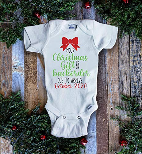 Product Image of the Your Christmas Gift is on Backorder Pregnancy Announcement Onesie