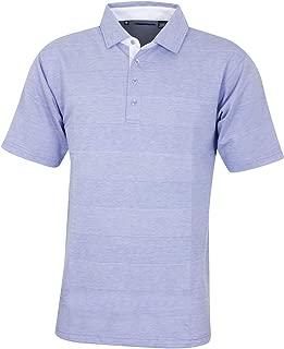 Bobby Jones Mens Lux Pima Cotton Jaquard Stripe Golf Polo Shirt