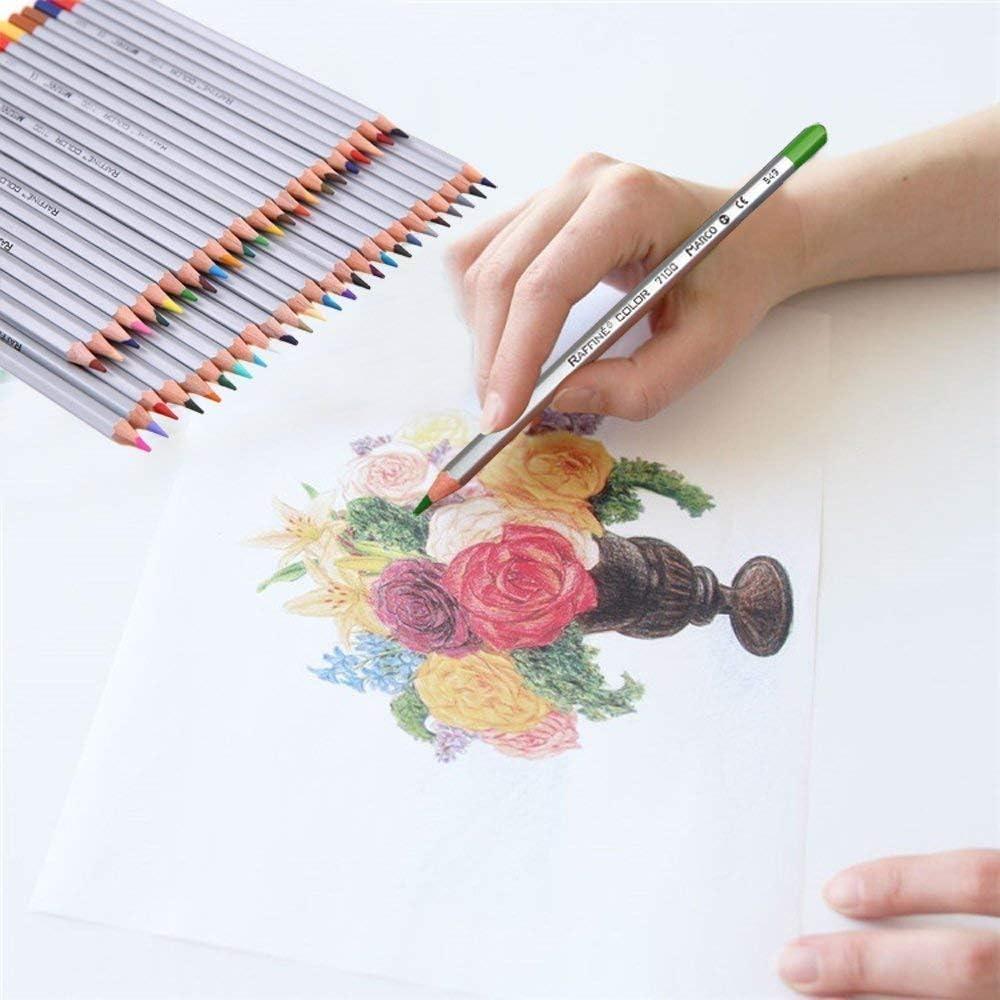 buntstifte set ZJchao Set von 72//48 Farbe aquarellstifte aquarellfarbkasten Bleistift Farbe marco Fine Art Zeichnen Oil Base ungiftig Bleistifte Set f/ür K/ünstler Sketch holz mehrfarbig 72 Color