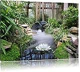 Pixxprint Zen Garden Japon, Format: 100x70 sur Toile