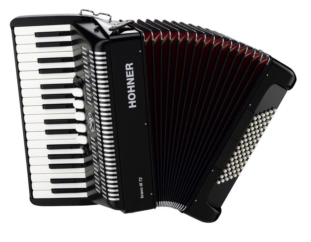 Hohner Bravo Piano Accordion Black