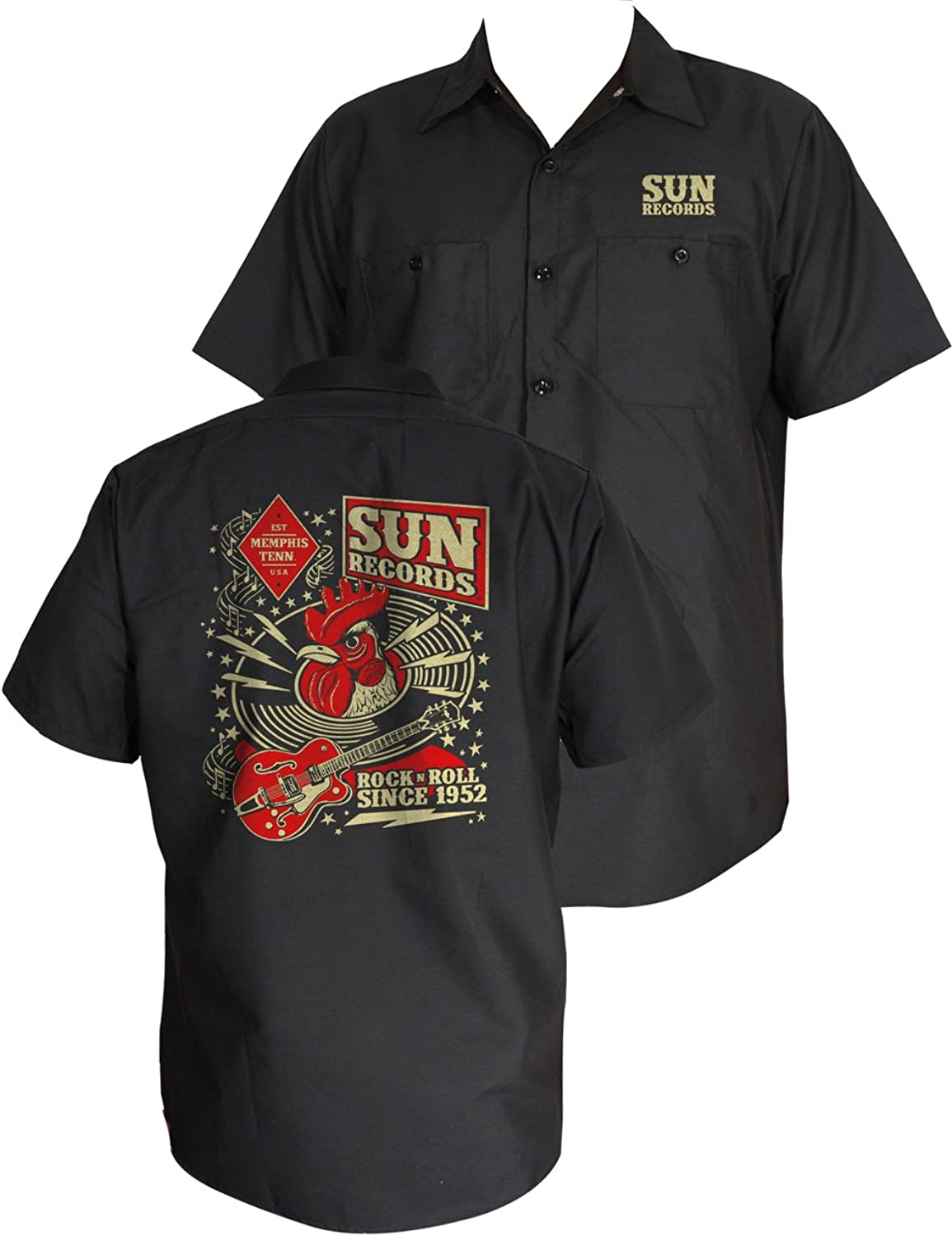 Steady Products Sun Record Hop Workshirt in Black