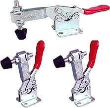 Liuer 3 x 90KG/ 198lbs Abrazadera de palanca manual, Abrazadera horizontal, Herramienta de liberación rápida Soporte Metal Horizontal, antideslizante, liberación rápida