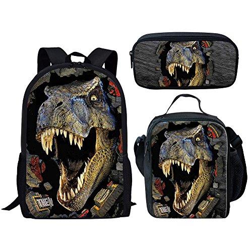 Advocator, Zainetto per bambini, Dinosaur Set2 (Rosso) - Advocator packable backpack