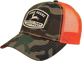 قبعة John Deere Camo HI-Viz مع شعار قديم، أخضر