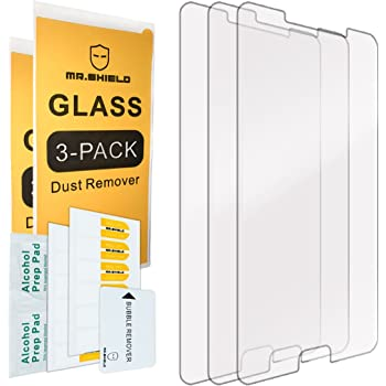 [3-PACK]- Mr.Shield For Samsung Galaxy A9 (2016) / Galaxy A9 Pro (2016) [Tempered Glass] Screen Protector [0.3mm Ultra Thin 9H Hardness 2.5D Round Edge] with Lifetime Replacement