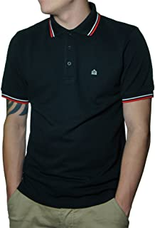 New Black Card Cotton Polo Shirt With Tipped Collar