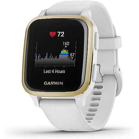 Garmin Venu Sq Montre GPS de sport connectée santé et bien-être - Blanc/Or
