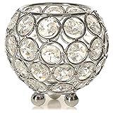 POFET Portavelas de cristal votivo de 5 pulgadas/12 cm, para el hogar,...