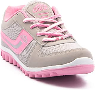 ASIAN Cute Grey Pink Walking Shoes,Running Shoes,Sports Shoes for Women … (7 UK, Light Grey and Pink)