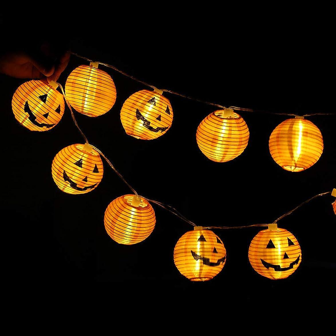 奇跡的な発明するサージイルミネーションライト ハロウィン Timsa LED装飾ライト カボチャ 鬼の顔柄 ランタン LED 飾り ライト LEDストリングライト 室外 お庭など対応 バレンタインデー パーティー クリスマス装飾 フェアリーストリングライト 電飾 電池式 (全長120cm, 10球)