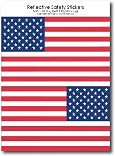 """Reflective Left- & Right-Facing American Flag Decals by ColorSurge 