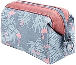 Makeup Travel Cosmetic Bags for Women Girls Flamingo Toiletry Wash Bag Portable Case Pouch