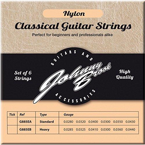 Johnny Brook Set von 6High Qualität Nylon Konzertgitarre Saiten (Standard Gauge)
