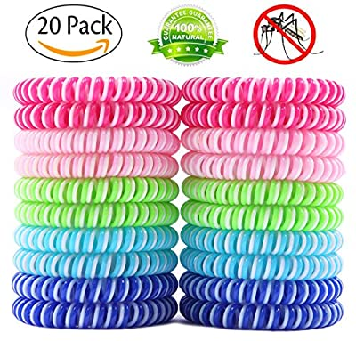 Liquid Pet Mosquito Repellent Bracelets Citronella Bug Bands, Insect Wristbands for Camping, Hiking, Outdoors, BBQs