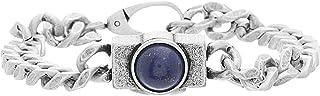 Steve Madden Men's Stainless Steel Lapis Bracelet, 8.5 Inch - SMBS496685OX-LP
