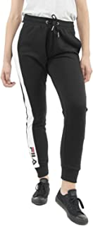 FILA Women's Freya Sweat Pants, Black (Black/Bright White), Small