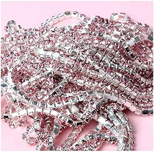 VIGOAT 10Meter Crystal Flatback Rhinestone safety Chain Sew Claw Silver ! Super beauty product restock quality top!