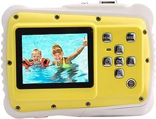 Cámara para niños Niños de la cámara a prueba de choques videocámara digital con cámaras digitales 2 pulgadas de alta definición de pantalla táctil Amarillo Gran regalo for los niños de la Infancia Cá