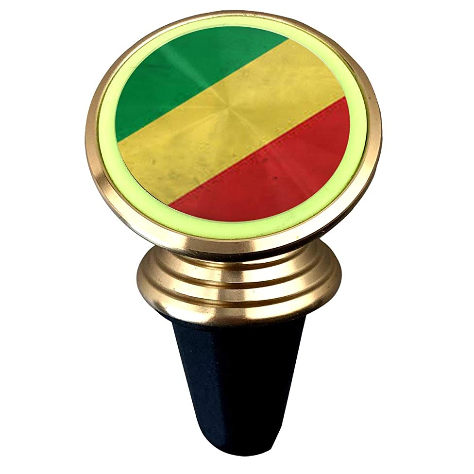 X-JUSEN Democratic Republic of Congo Flag Universal Twist-Lock Air Vent Magnetic Car Mount Holder, Noctilucent Deluxe Car Mobile Bracket, Magnetic Mounts 360 Degree Rotation from Dashboard