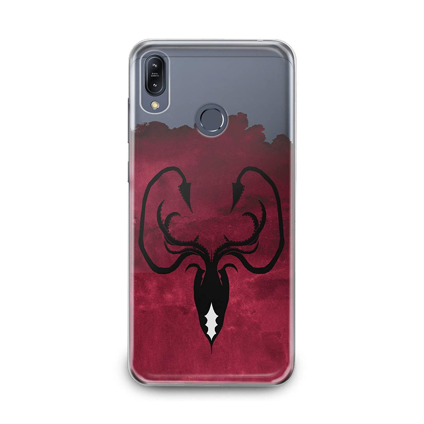 Lex Altern TPU Case for Asus Zenfone Max Plus M1 M2 5z 5 4 Selfie Pro Greyjoy Flexible Octopus Symbol Gift Smooth Black Print Slim fit Game of Thrones Cover Soft Clear Red Design Kingdoms Lightweight