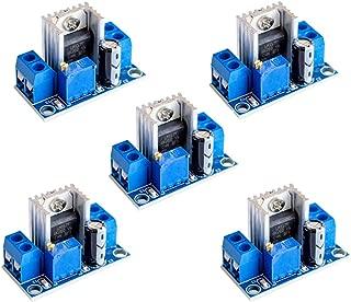 Onyehn 5pcs LM317 Adjustable Voltage Regulator Power Supply DC-DC Step-Down DC Converter Circuit Board Adjustable Linear Regulator 5 Pack