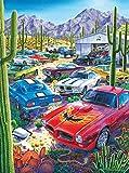 AJleil Puzzle 1000 Piezas Cactus Car Full Art Craft Paisaje Imagen Puzzle 1000 Piezas clementoni Juego de Habilidad para Toda la Familia, Colorido Juego de ubicación.50x75cm(20x30inch)