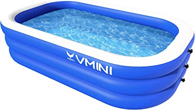 "Vmini Inflatable Swimming Pool, 92"" X 57"" X 22"" Full-Sized Swim Center Family Lounge Rectangular Pool, for Ages 3+, Outdoor, Garden, Backyard"