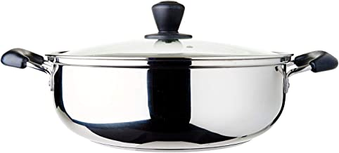 Dolphin Collection Stainless Steel Steam Boat Glass Lid, 6.15L